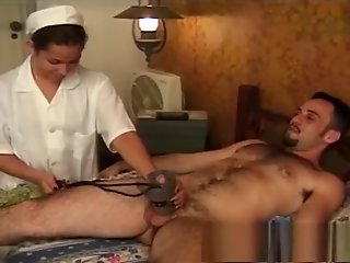 tranny nurse gets anal split