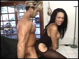 brunette gets ass fuck
