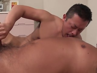 japanese bear enjoys blow job/ oral