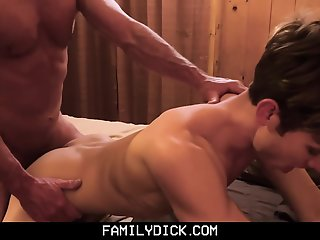 familydick muscular step-grandpa fucks bedtime