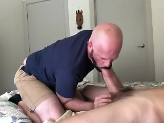 handsome daddy sucks dick grandpa