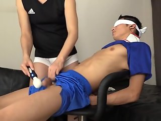 blindfold japanese edged cum