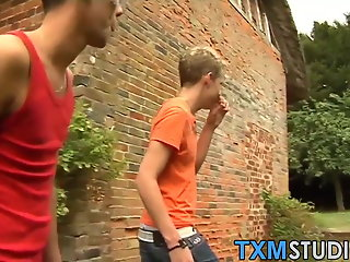 outdoor gay anal blowjob foursome twinks