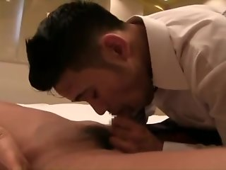asian muscle hunk fucking co-worker bareback
