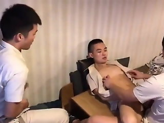 chinese boys work threesome