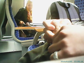 caught masturbating train