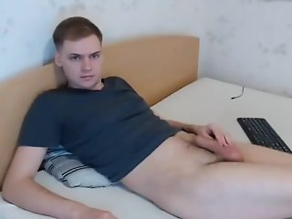 horny guy masturbating webcam