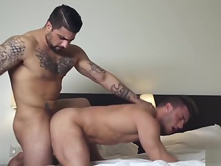 handsome inked hunk gets ass stuffed